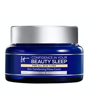 IT Cosmetics Confidence in Your Beauty Sleep – Night Cream – Visibly Improves Fine Lines, Wrinkles, Dryness, Dullness & Loss of Firmness – With Hyaluronic Acid – 2.0 fl oz
