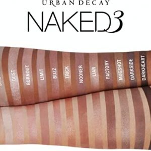 Urban Decay Naked3 Eyeshadow Palette, 12 Versatile Rosy Neutral Shades for Every Day – Ultra-Blendable, Rich Colors with Velvety Texture – Set Includes Mirror & Double-Ended Makeup Brush