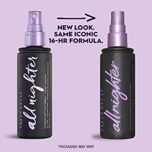 Urban Decay All Nighter Long-Lasting Makeup Setting Spray – Award-Winning Makeup Finishing Spray – Lasts Up To 16 Hours – Oil-Free, Natural Finish – Non-Drying Formula for All Skin Types – 4.0 fl oz
