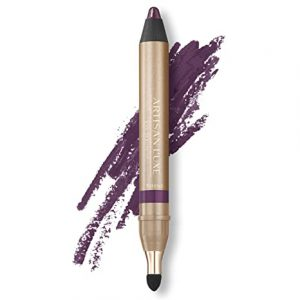 Artisan L'uxe Beauty Velvet Jumbo Eyeliner Pencil – Smokey Eyes in 3 Minutes – Water-Resistant, Smudge-Proof, Long-Lasting – Age-Defying Essential Oils – Entice (Shade: Violet)